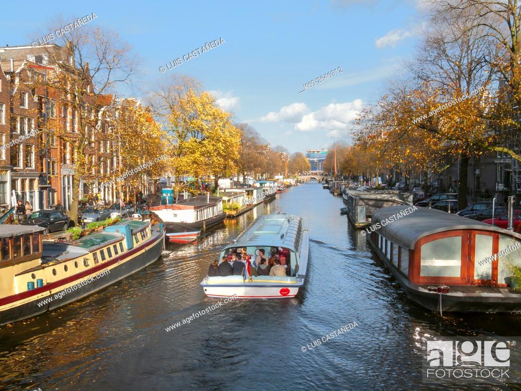 Stock Photo: Prinsengracht Canal. Amsterdam.