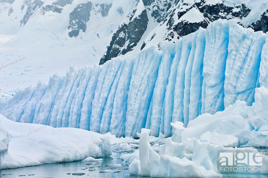 Stock Photo: Bahia Paraiso Paradise Bay, Ice Formation, Antarctic Peninsula.