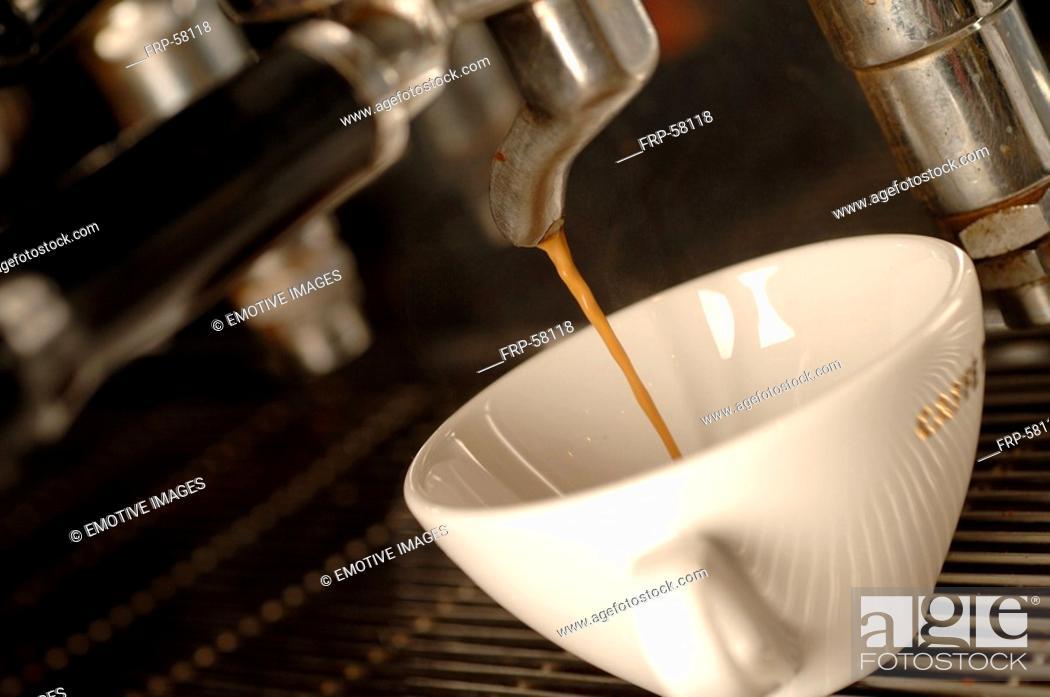 Stock Photo: Espresso machine, close up.