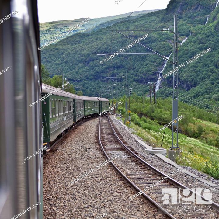 the flaam railway norway stock photo picture and rights managed