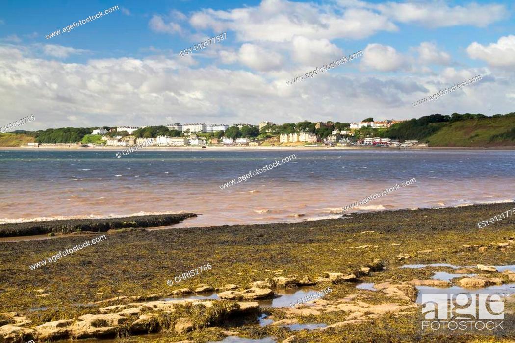 Stock Photo: Filey seaside resort north yorkshire UK.