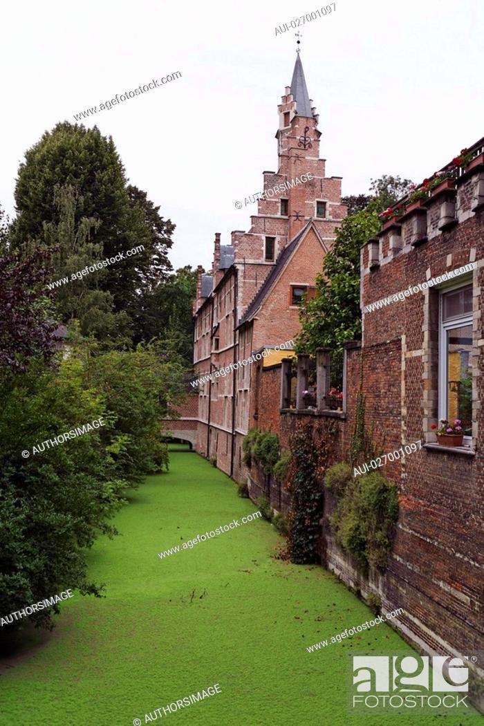 Stock Photo: Belgium - Flanders - Mechelen - Groen Waterke.