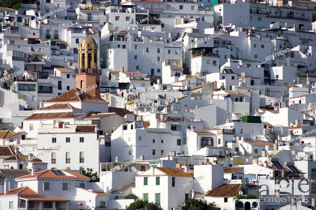 Stock Photo: Competa. Axarquia, Malaga province, Andalucia, Spain.