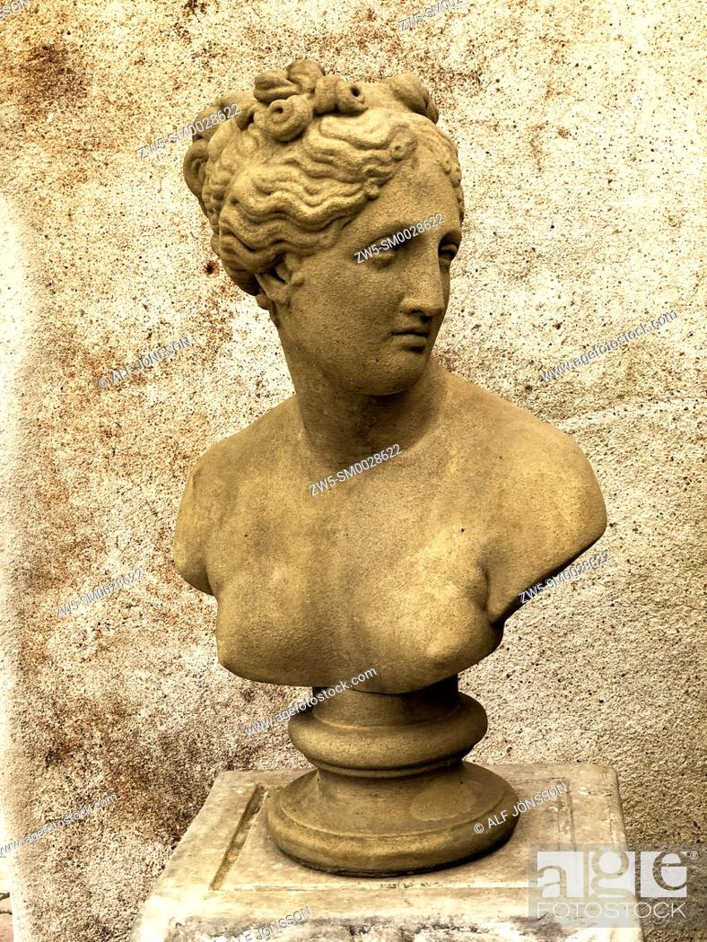 Stock Photo: Bust of a Roman woman.
