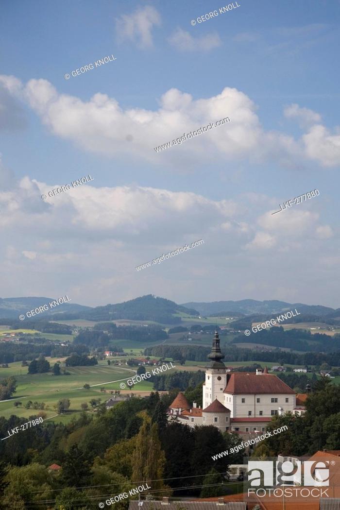Stock Photo: Weinberg castle, Kefermarkt, Muehlviertel, Upper Austria, Austria.