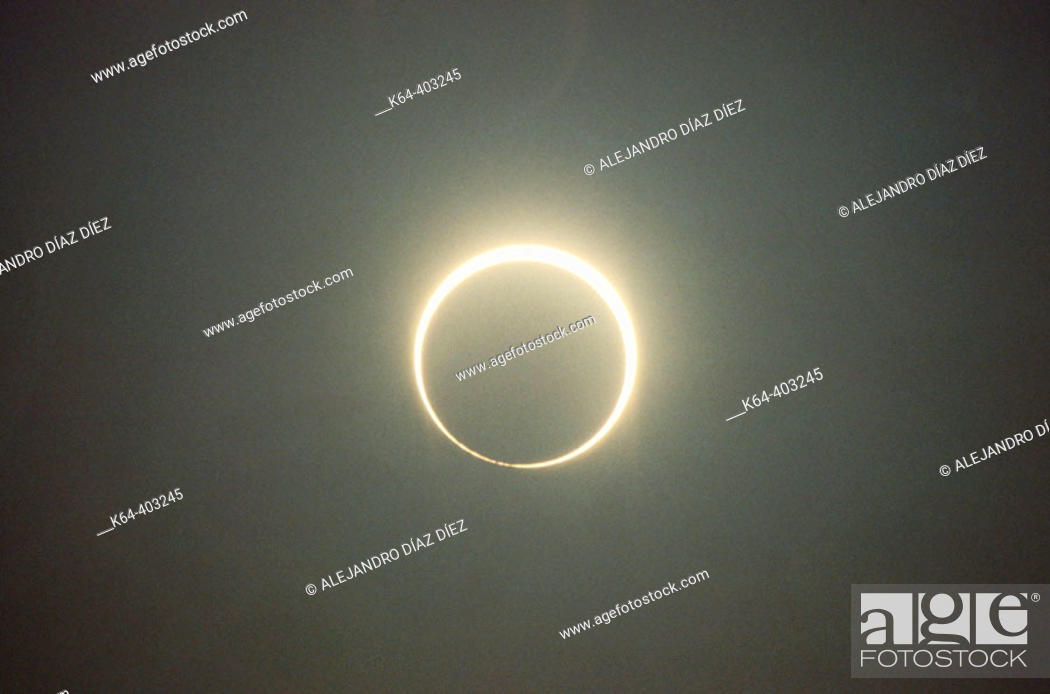 Stock Photo: Solar eclipse. Michigan, USA.