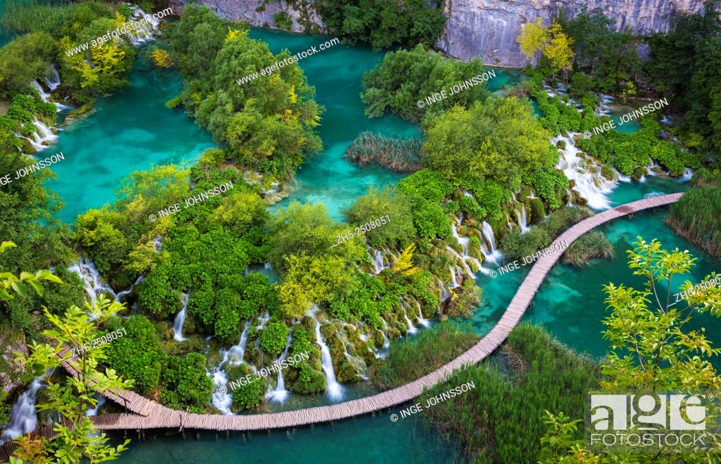Stock Photo: Plitvice Lakes National Park is one of the oldest national parks in Southeast Europe and the largest national park in Croatia.