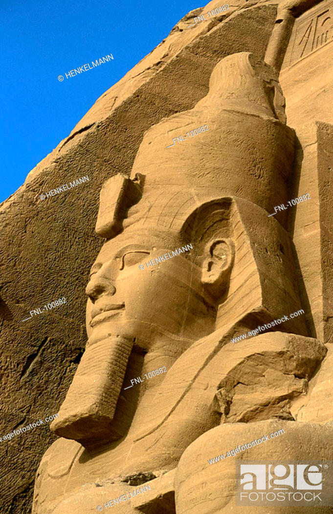Stock Photo: Old ruins of ancient temple, Abu Simbel, Nubia, Egypt.
