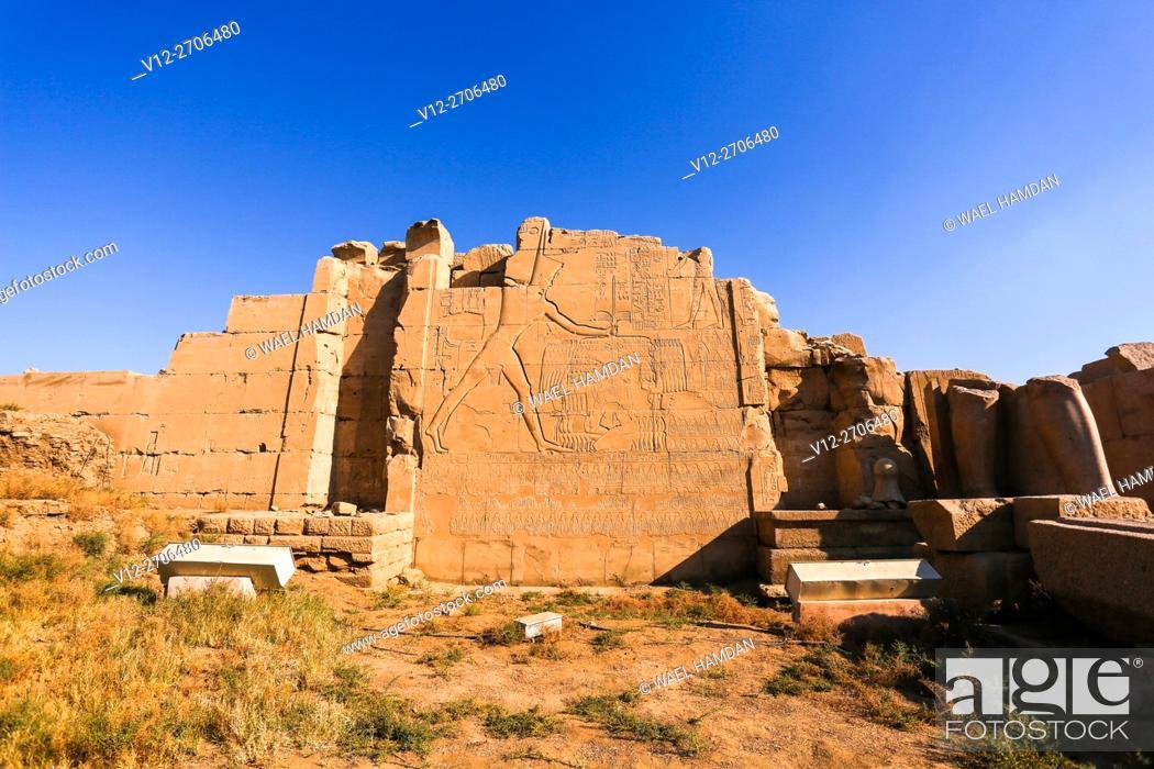 Stock Photo: Karnak temple, Luxor city, Egypt.
