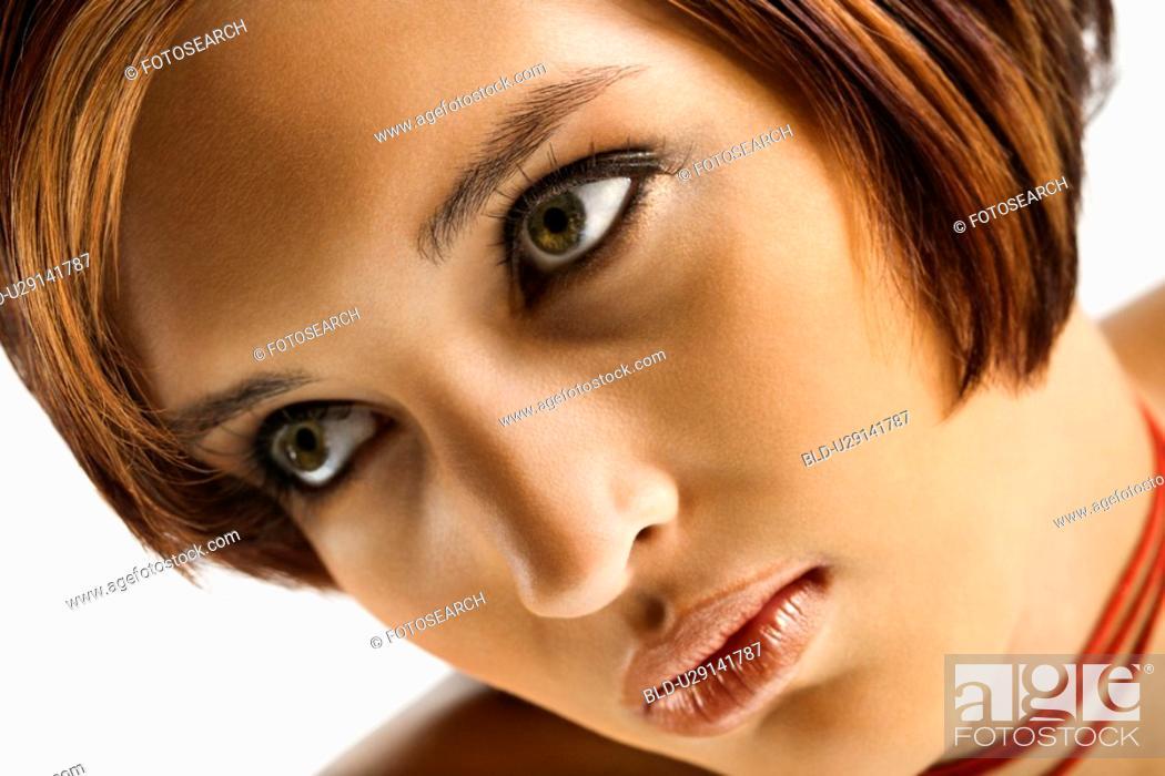 Stock Photo: Close up portrait of woman.