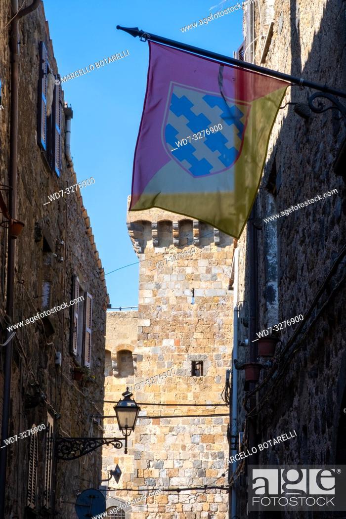 Stock Photo: Bolsena alley, near Bolsena lake, in Lazio, Italy.