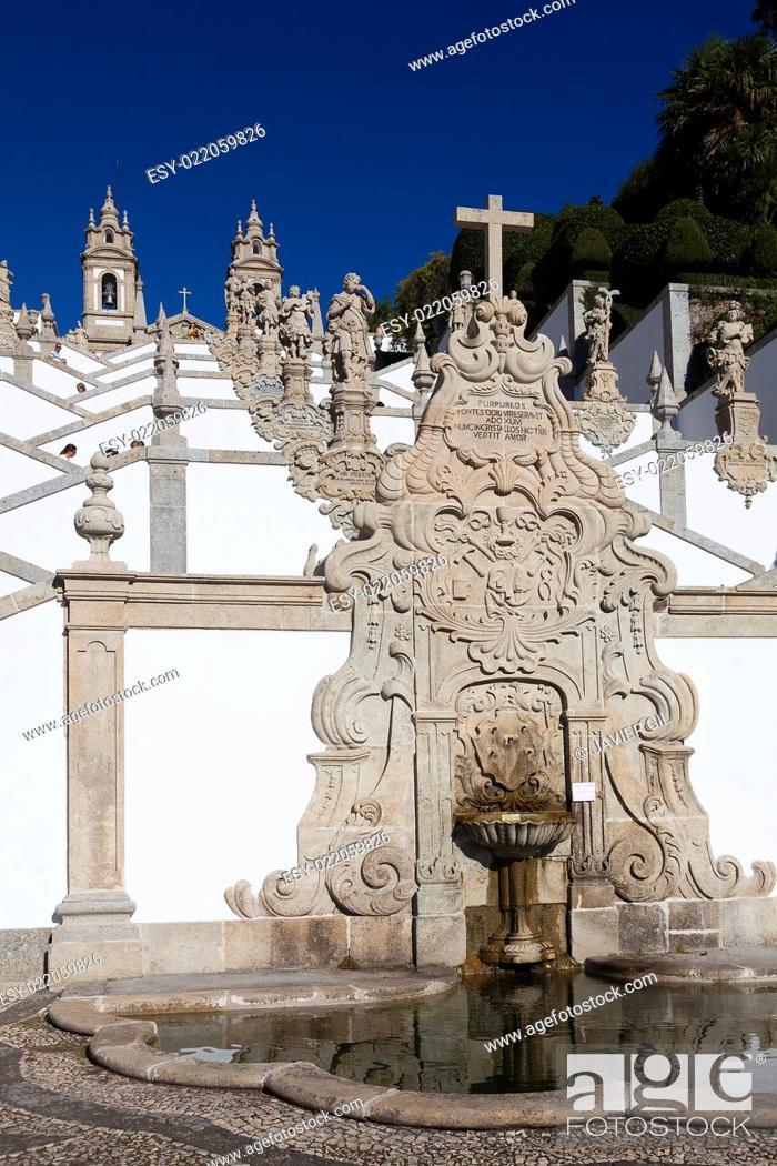 Stock Photo: Bom Jesus do Monte, Braga, Nord, Portugal.