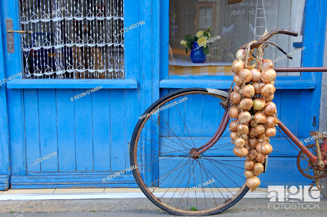 Stock Photo: Johnnie's bike. Roscoff city. North Finistere. Brittany. France.