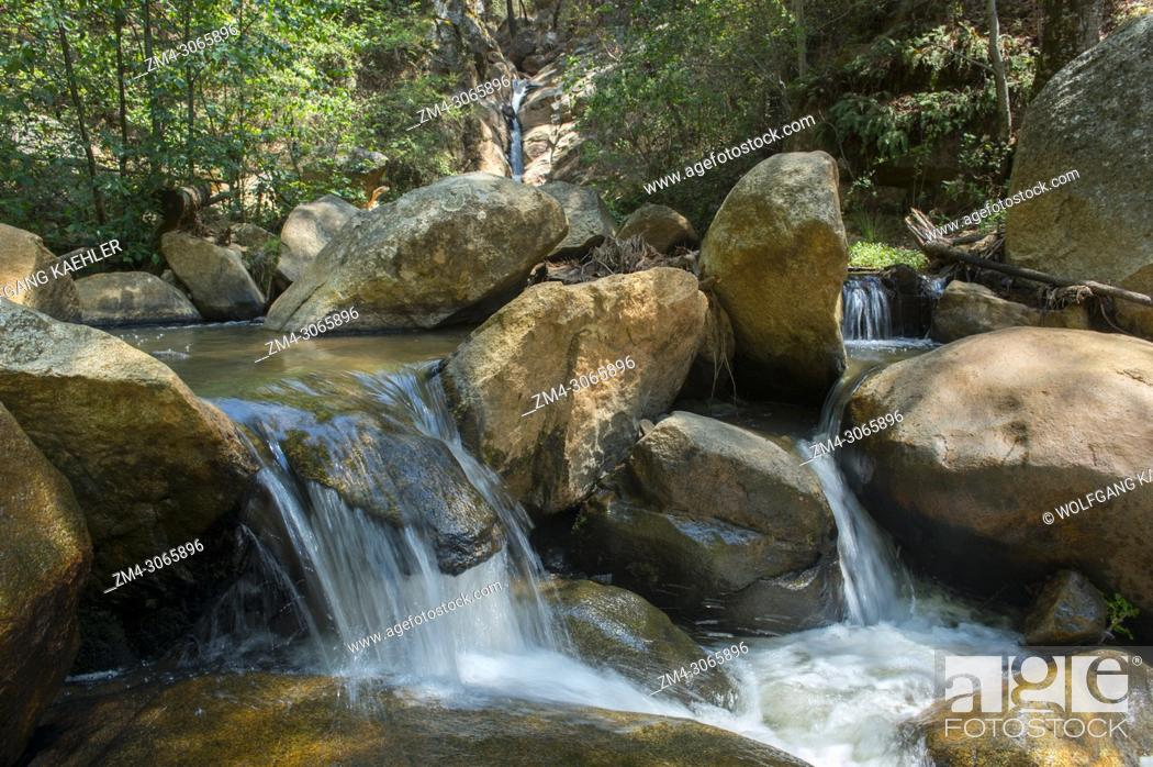Stock Photo: One of the waterfalls in the forest in the hills above the Mixtec village of San Juan Contreras near Oaxaca, Mexico.