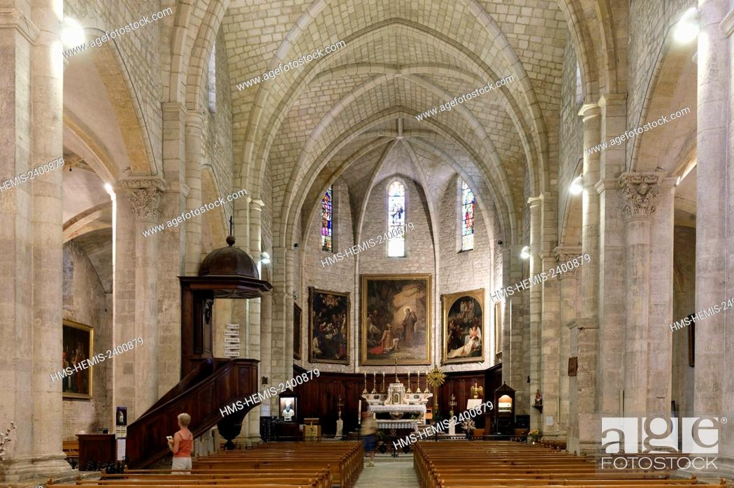 Stock Photo: France, Gard, Saint Gilles, 12th-13th century abbey, listed as World Heritage by UNESCO under the road to St Jacques de Compostela in France.