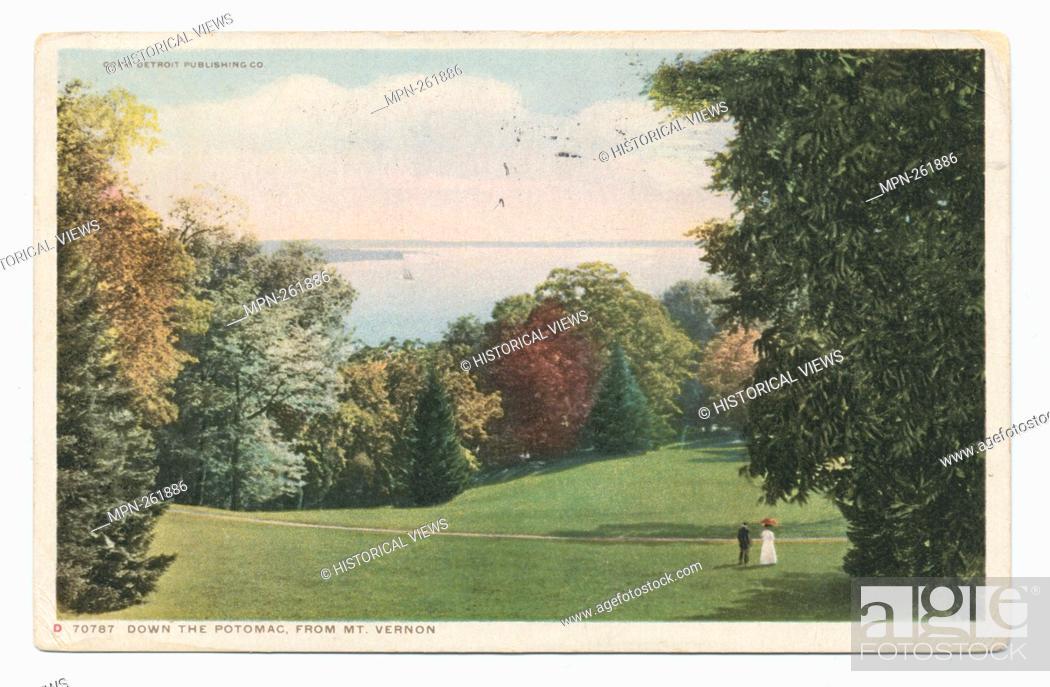 Stock Photo: Down the Potomac, Mt. Vernon, Va. Detroit Publishing Company postcards 70000 Series. Date Issued: 1898 - 1931 Place: Detroit Publisher: Detroit Publishing.