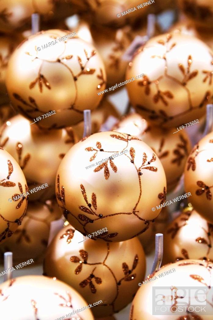 Stock Photo: Christmas balls to sell.
