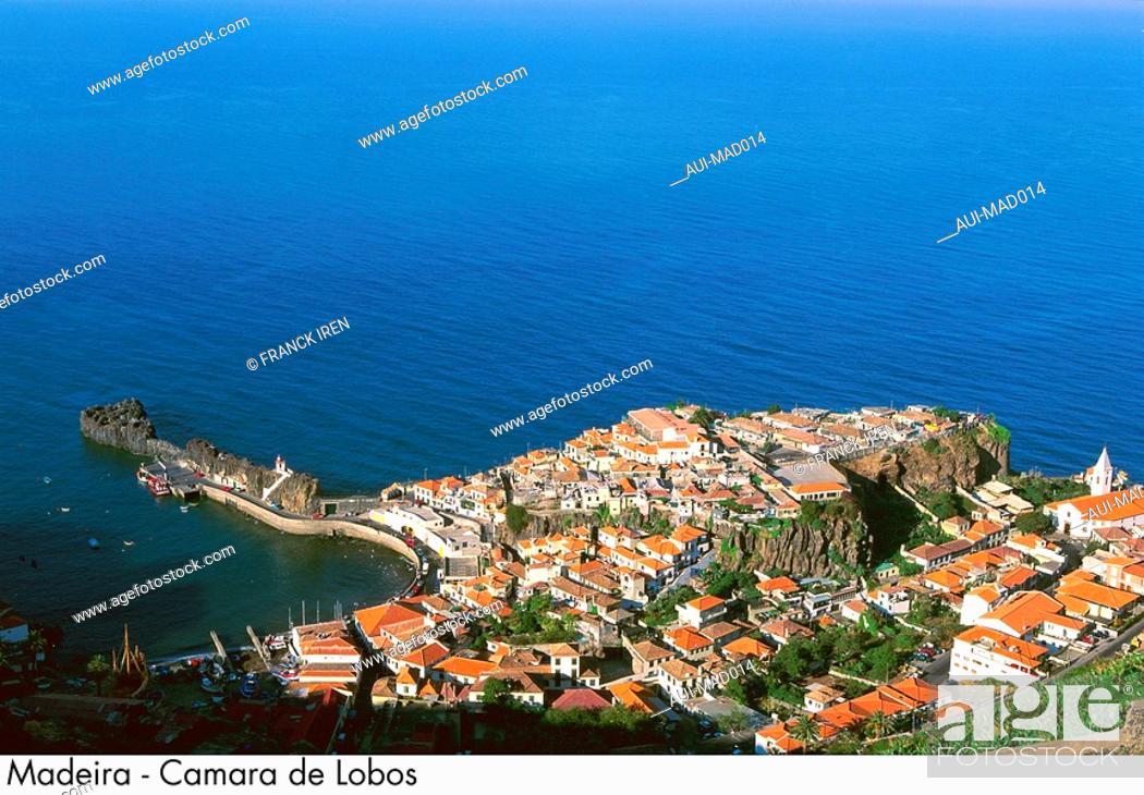 Stock Photo: Portugal - Madeira - Camara de Lobos.