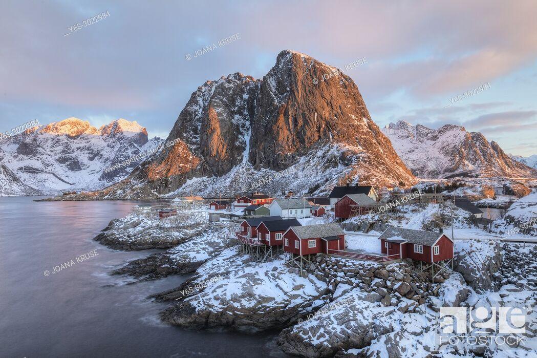 Stock Photo: Reine, Lofoten, Norway, Europe.