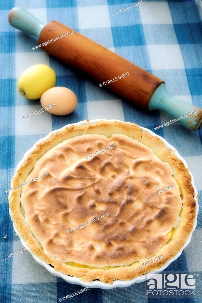 Stock Photo: Lemon Meringue Pie.