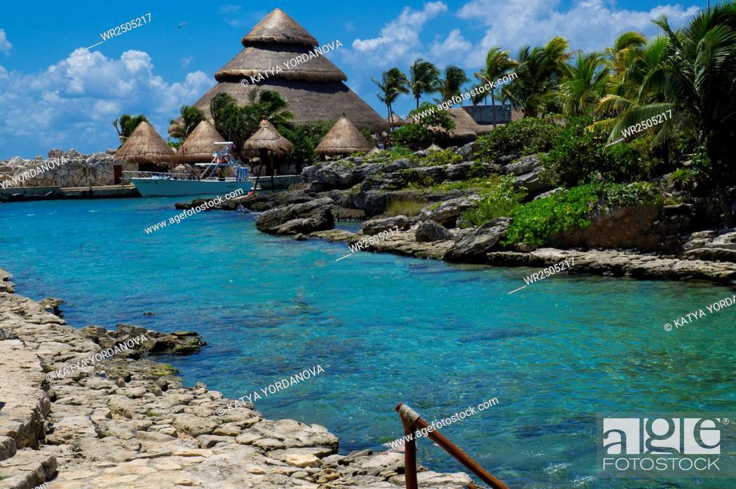 Stock Photo: Snorkeling area, Xcaret, Eco-archeological park, Playa del Carmen, Quintana Roo state, Mayan Riviera, Yucatan Peninsula, Mexico.