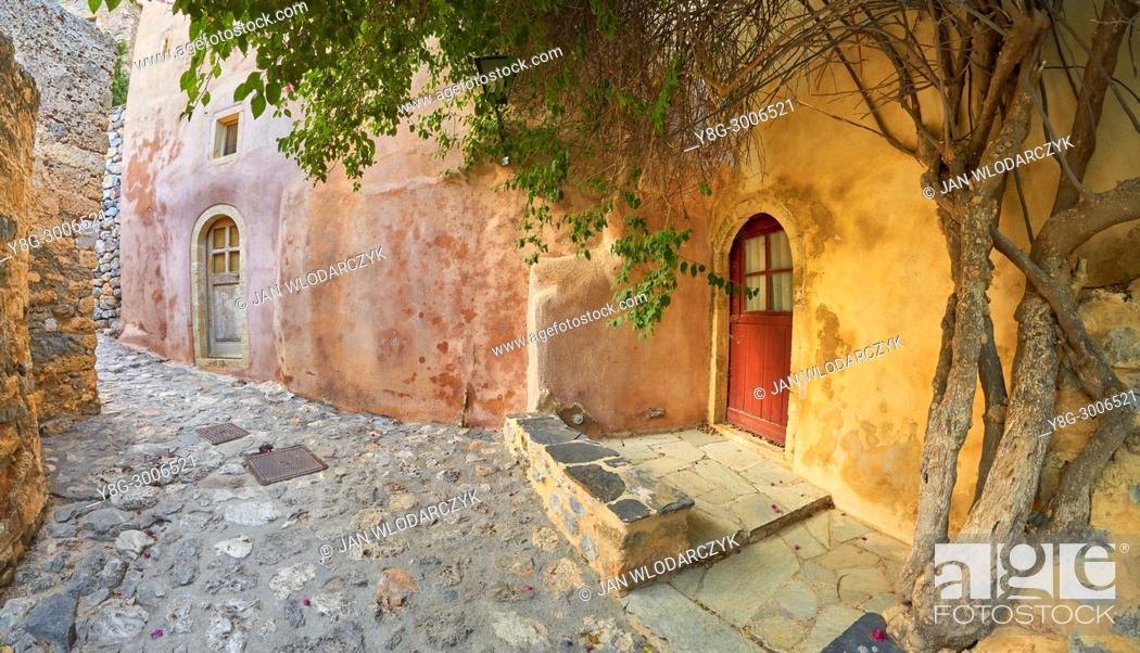 Stock Photo: Monemvasia medieval town, Peloponnese, Greece.