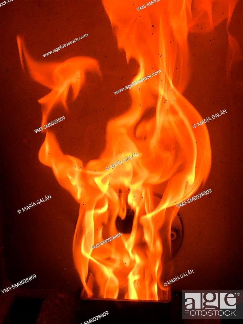 Stock Photo: Flame of fire.
