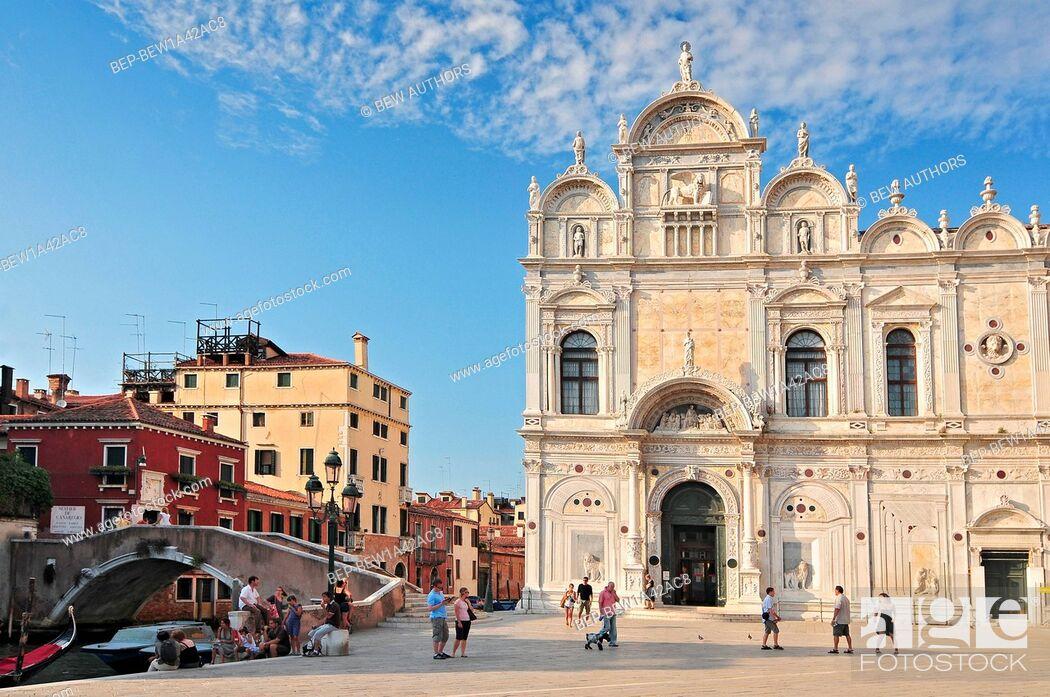 Imagen: view of the scuola grande di san marco now hospital in venice nearby the basilica of santi giovanni e paolo. Venice Italy.