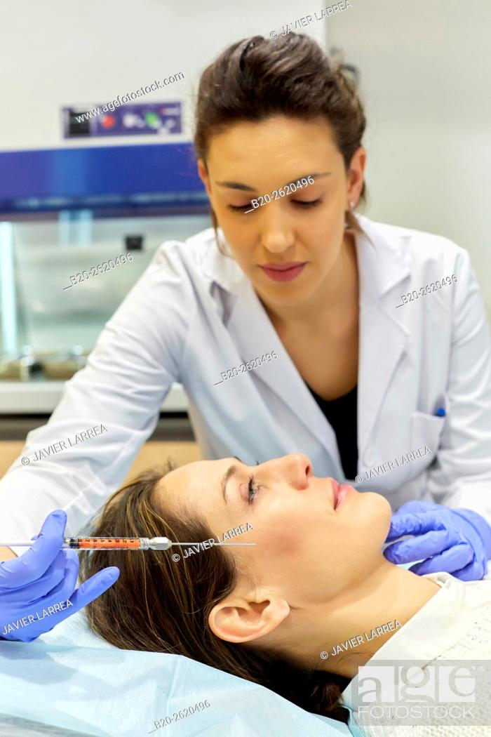 Stock Photo: Lipofilling. Fat Grafting. Liposculpture. Lipofilling is based on patient's own fat transfer to another area, either for body shaping and facial rejuvenation.