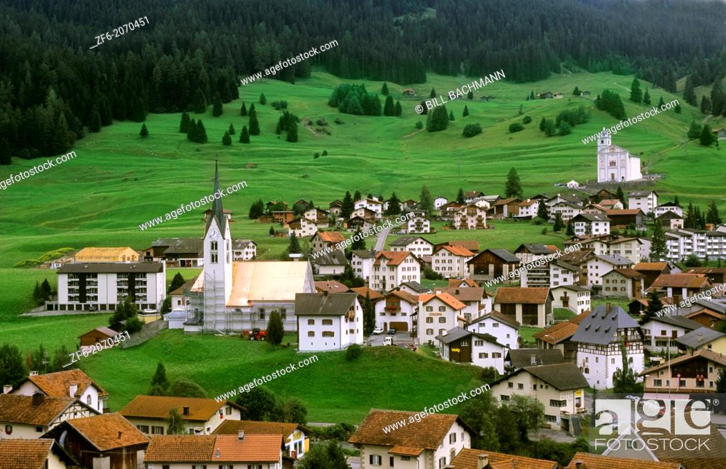 Stock Photo: Village of Balzers in Liechtenstein in the mountains in the small country next to Switzerland.