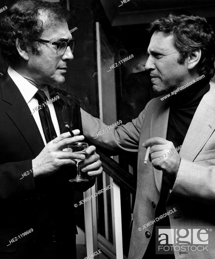 Stock Photo: Harold Pinter (1930- ), British playwright with Amos Oz (1939 - ), Israeli writer at a reception for Amos Oz, Friends of Israel.