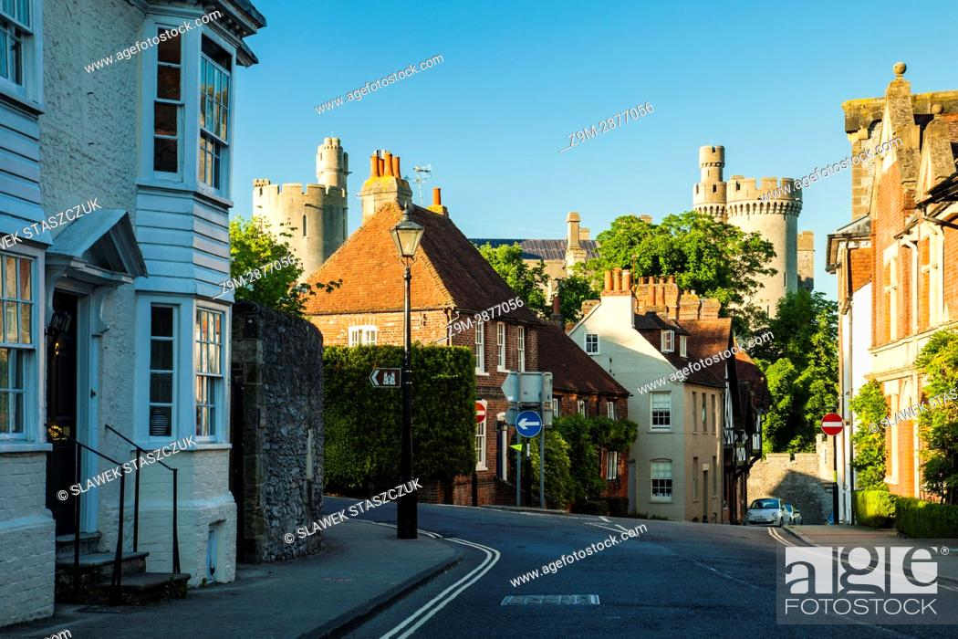 Stock Photo: Spring evening in Arundel, West Sussex, England.
