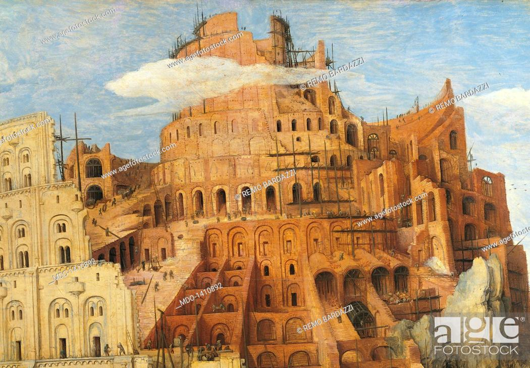 The Tower Of Babel By Pieter Bruegel The Elder 1563 16th Century Oil On Wood 114 X 155 Cm Stock Photo Picture And Rights Managed Image Pic Mdo 1410892 Agefotostock