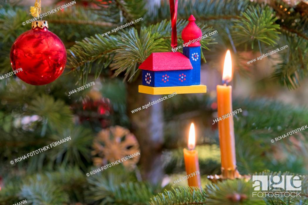 Weihnachtlichter Christbaumschmuck Die Berchtesgadener War Stock