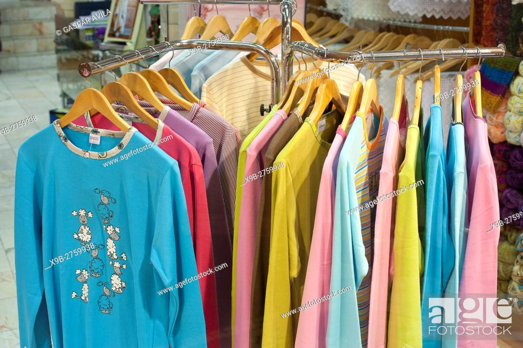 Stock Photo: Clothes for sale.