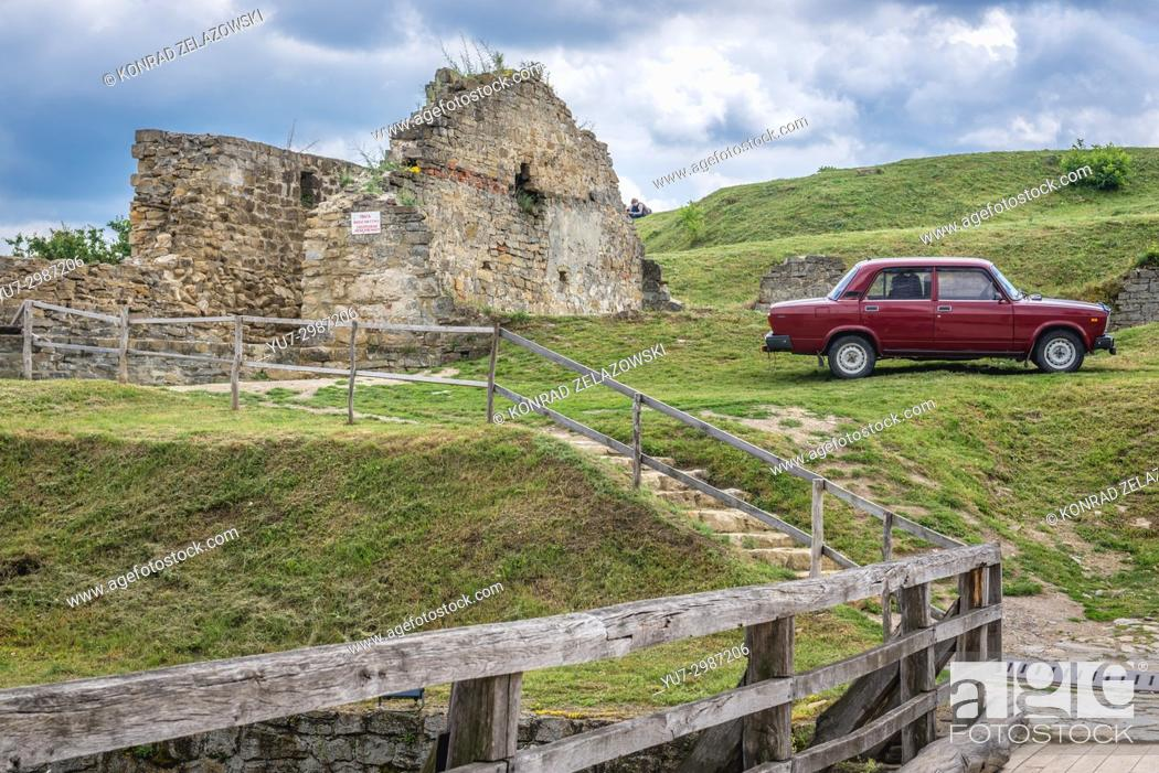 Stock Photo: Ruins in Khotyn Fortress, located in Chernivtsi Oblast of western Ukraine.