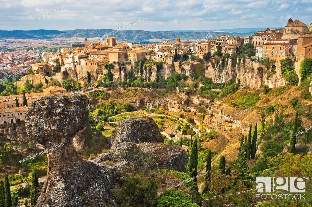 Imagen: Hoz del Huecar gorge, Hanging Houses of Cuenca, Castile-La Mancha, Castilla La Mancha, Spain.