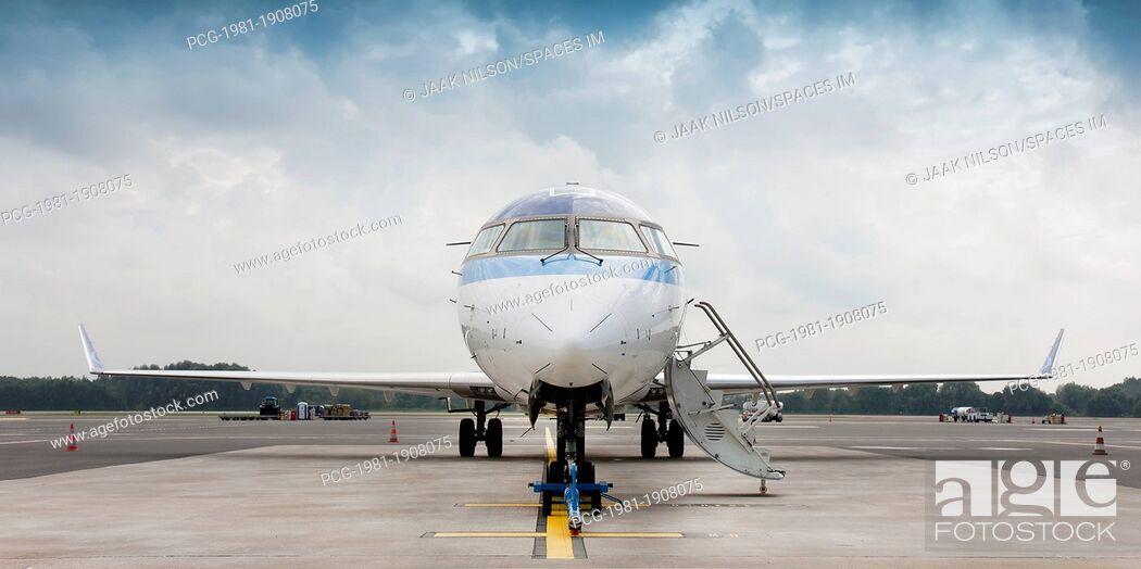 Stock Photo: Parked Jet Airplane.