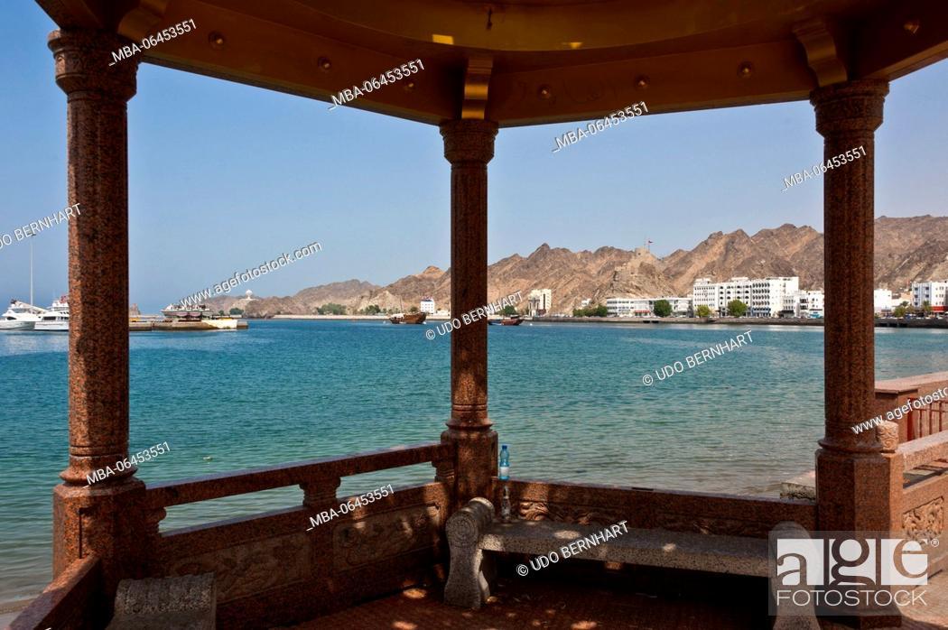 Stock Photo: Arabia, Arabian peninsula, Sultanate of Oman, Muscat, Muttrah, Corniche, Al-Bahri-Road.