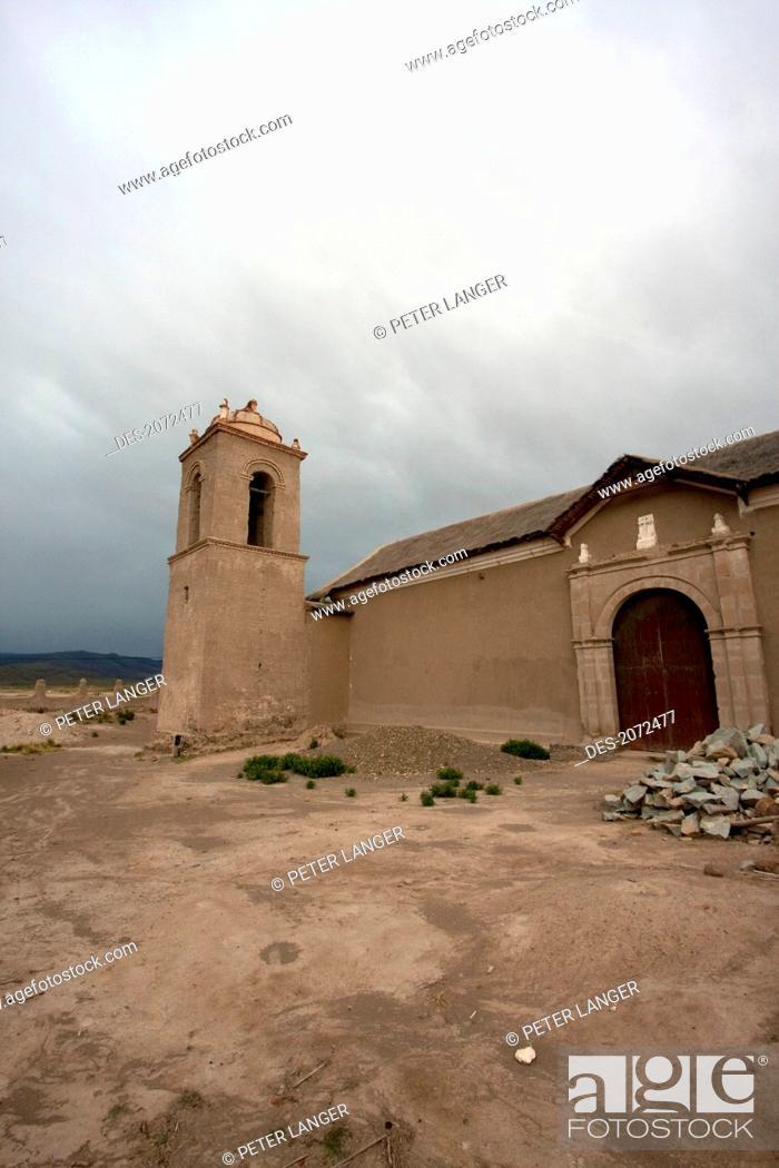 Stock Photo: Church Of Sepulturas, Oruro Department, Bolivia.