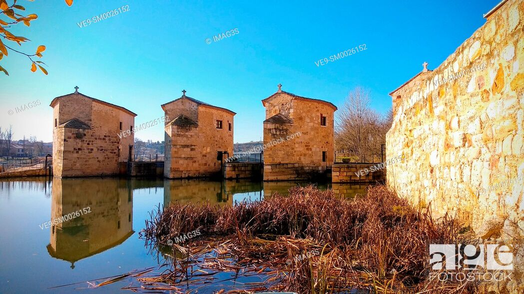 Imagen: Aceñas de Olivares in Douro river Zamora city, Castile-Leon, Spain.