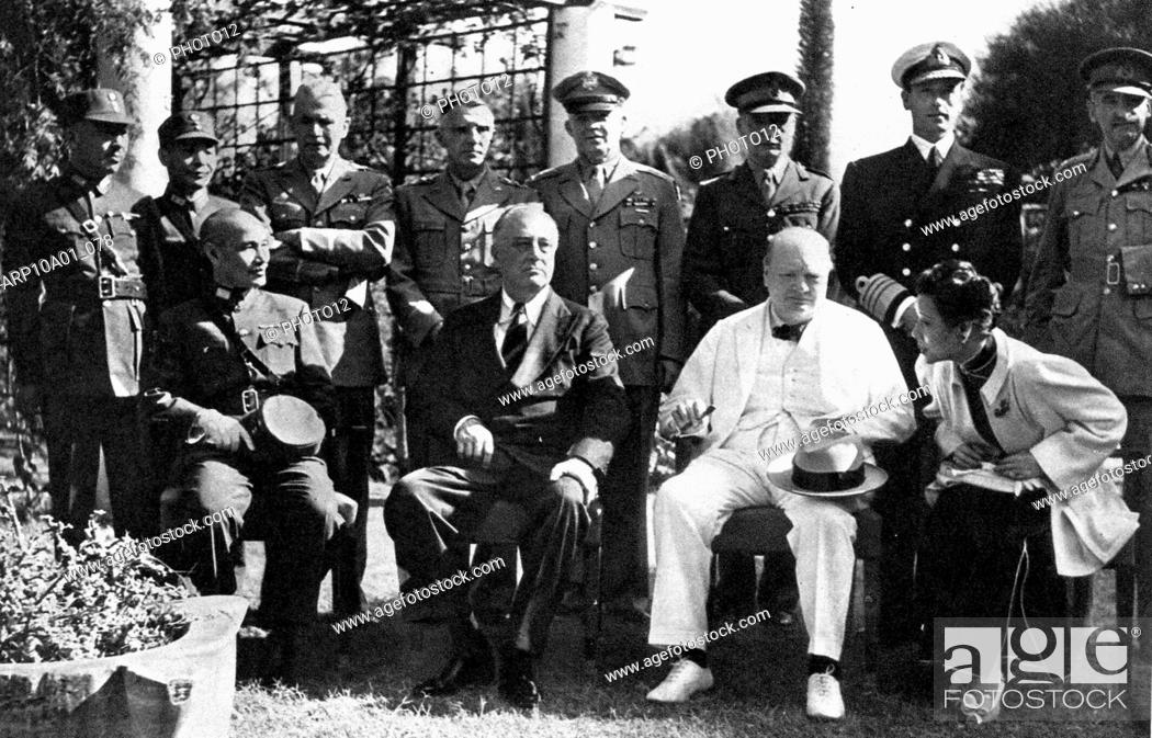 The Cairo Conference of 1943: Roosevelt, Churchill, Chiang Kai-shek and Madame Chiang