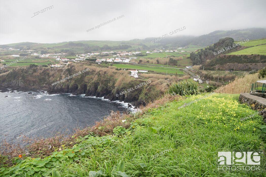 Stock Photo: Quatro Ribeiras viewpoint Terceira island Azores Portugal.