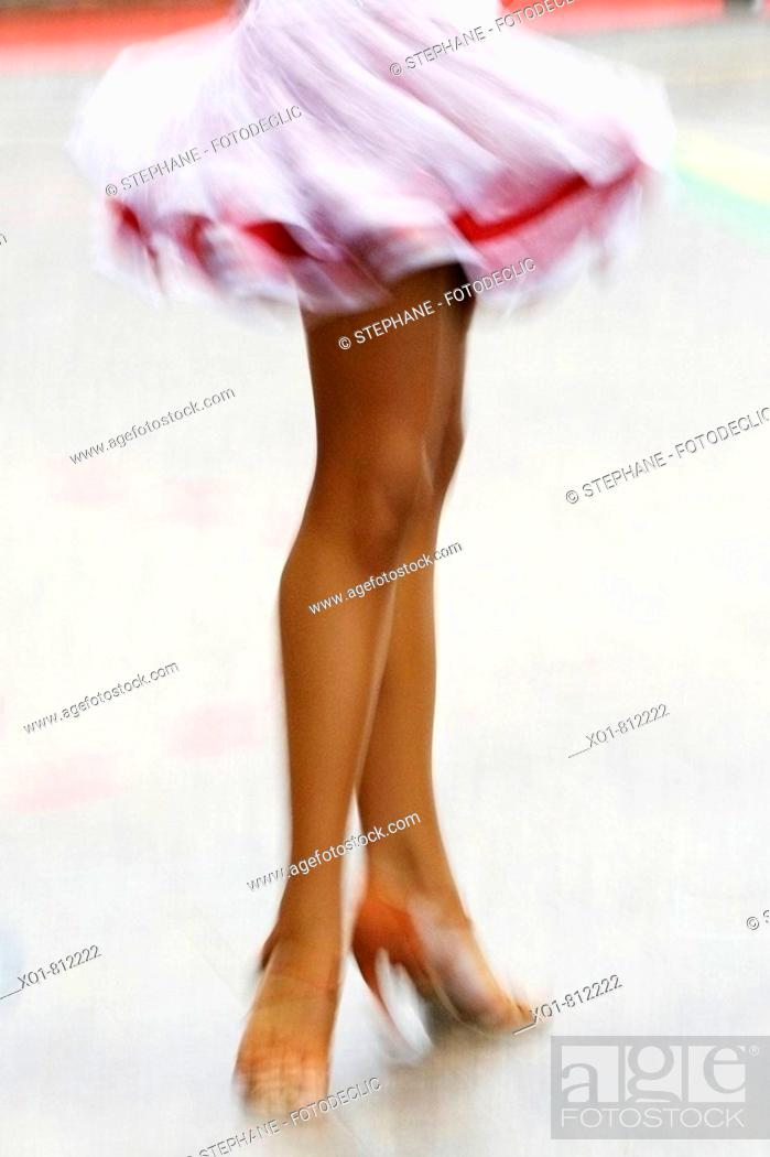 Stock Photo: Dance competition, Latin dances (Samba, Cha cha cha, Rumba bolero, Pasodoble, Jive).