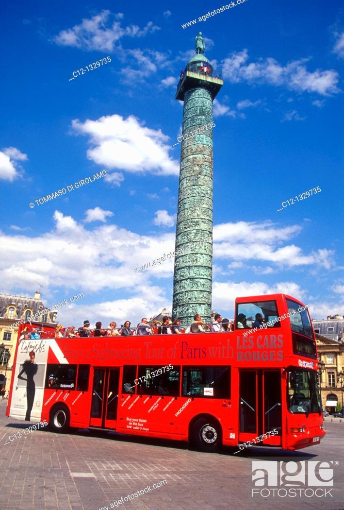 Stock Photo: France, Paris, Place Vendome.
