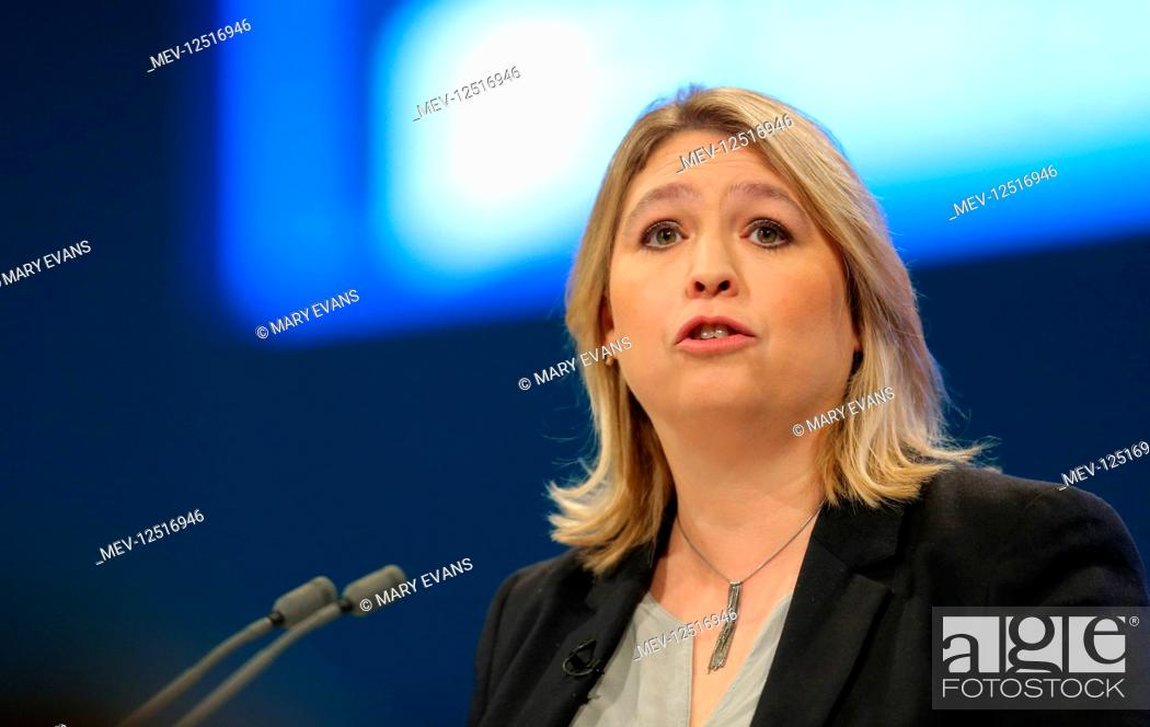 Stock Photo: Karen Bradley MP Secretary Of State For Digital, Culture, Media And Sport Conservative Party Conference 2017 Manchester Central, Manchester.