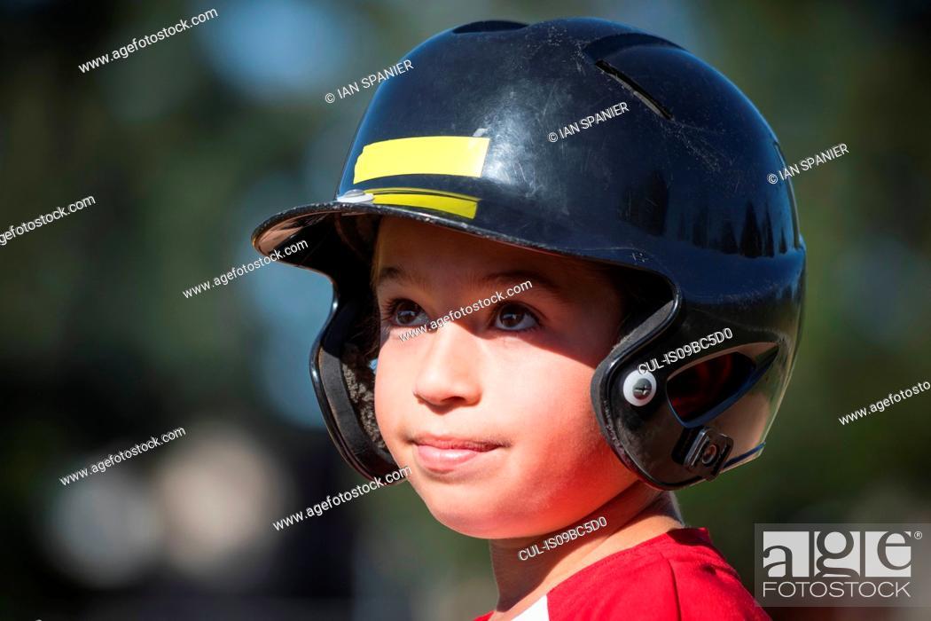 Stock Photo: Young baseball player.