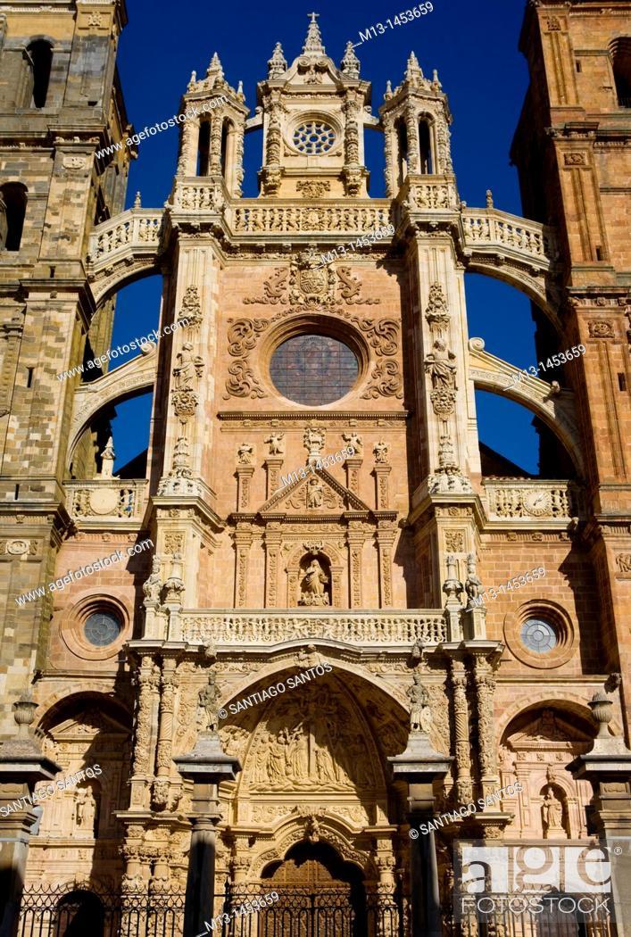 Stock Photo: Astorga Cathedral, León. Castilla y León. Spain.