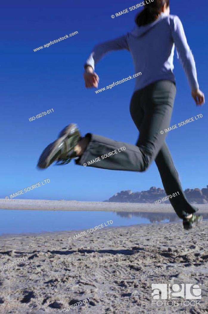 Stock Photo: Woman running.