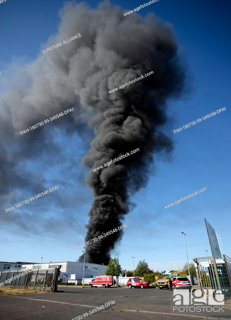 30 July 2018 Germany Delitzsch A Large Cloud Of Smoke Rises From
